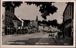 ! Alte Ansichtskarte, Fotokarte Amstetten, Adolf Hitler Platz, Österreich - Amstetten