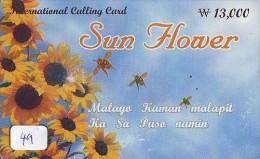 Télécarte   * PHILIPPINES  * FILIPPINES *  (49) Telefonkarte Phonecard * SUNFLOWER * TOURNESOL - Philippines