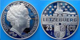 LUSSEMBURGO 25 E 1996 ARGENTO PROOF CHALRLOTTE GRAN DUCHESSA DI LUSSEMBURGO 1896-1985 PESO 23g TITOLO 0,925 CONSERVAZION - Lussemburgo