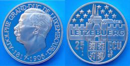 LUSSEMBURGO 25 E 1997 ARGENTO PROOF ADOLGO GRAN DUCA DI LUSSEMBURGO 1817-1905 PESO 23g TITOLO 0,925 CONSERVAZIONE FONDO - Lussemburgo