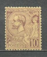 1891 MONACO 10C. DEFINITIVE MICHEL: 14 MINT WITHOUT GUM - Monaco