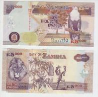 Zambia 5000 Kwacha 2011 Pick 45g UNC - Zambie