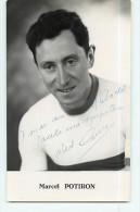 Marcel POTIRON - Autographe Manuscrit - Dédicace - Cyclisme - 2 Scans - Ciclismo