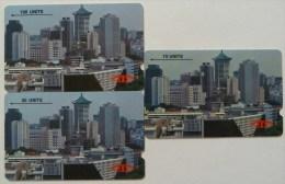 SINGAPORE - GPT Trials - Orchard Skyline - Set Of 3 - 1SIGA,B & C - 1000ex - Used - Singapour