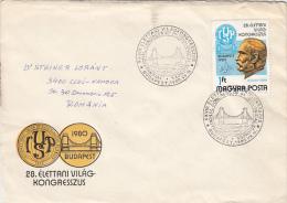 18048- BRIDGE, WORLD CONGRESS, SPECIAL COVER, 1980, HUNGARY - Ponti