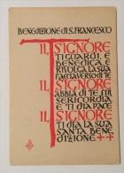 La Benedizione Di S. Francesco + Preghiera Non Viaggiate Anni 40/50 Ottimo Stato Formato Grande - Santi