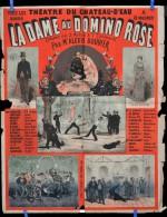Affiche LA DAME AU DOMINO ROSE The�tre du Chateau d' Eau vers 1880