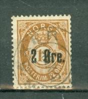 Norge 1888  Yv  45  Facit  47  Used / Obl / Gebr - Norvège