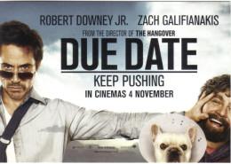 "15S: Movie Film Poster Postcard ""Due Date"" Starring Robert Downey Jr. & Zach Galifianakis - Afiches En Tarjetas"