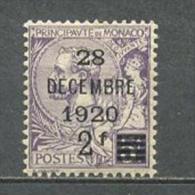 """1921 MONACO 2F/5FR """"28 DECEMBRE 1920"""" OVERPRINT MICHEL: 48 MH * - Monaco"""