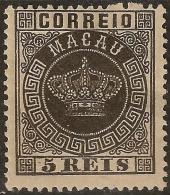 Macau Macao – 1884 Crown Type - Macau