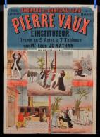 Affiche Th��tre du Ch�teau d' Eau Paris  PIERRE VAUX
