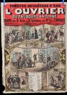 Affiche Th��tre du Ch�teau d' Eau L' OUVRIER vers 1880