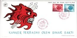 FDC Indonésie - Kanker Terbasmi Oleh Sinar Sakti - 1965 - Indonesia