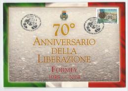 Mini Folder Celebrativo 70° Anniversario Liberazione Di Formia VEDI DESCRIZIONE WW2 Seconda Guerra Mondiale Cicerone - 1946-.. Republiek