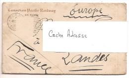 CANADA - CHEMIN DE FER - CANADIAN PACIFIC RAILWAY - Enveloppe + Papier à Lettre De 1913 - Canada