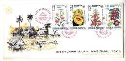 FDC Indonésie - Bentjana Alam Nasional - 1966 (fleurs) - Indonesia