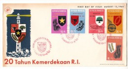 FDC Indonésie - 20 Tahun Kemerdekaan R.I - 1965 - Indonesia
