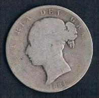 1884 Half Crown - K. 1/2 Crown