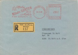 J0553 - Austria (1985) 9341 Strassburg, Kärnten: Wilhelm Gorton, Holz, Mehle, WIGO (logo), R-letter - Fabrieken En Industrieën