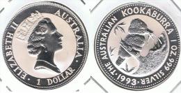 AUSTRALIA DOLLAR ONZA KOOKABURRA 1993 PLATA SILVER - Australia