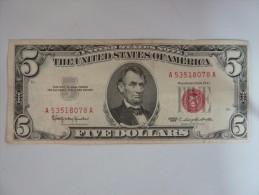 états Unis.USA-billet De 5 Dollars 1963(TB) - United States Of America
