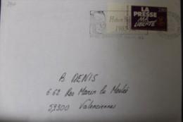 France 1994, Timbre Sur Lettre N° 2917, Liberté De La Presse, Oblitération Concordante - Lettres & Documents