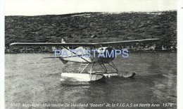 8395 ARGENTINA UK ISLA MALVINAS FALKLAND ISLAND AVIATION AVIACION HIDROAVION DE HAVILAND BEAVER COPIA POSTAL POSTCARD - Argentina