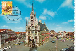 D20354 CARTE MAXIMUM CARD FD 2007 NETHERLANDS - CITY HALL GOUDA - BEAUTIFUL HOLLAND CP '60 -'70's ORIGINAL - Architecture