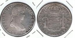 GUATEMALA FERNANDO VII 8 REALES 1821 PLATA SILVER - Guatemala