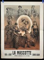 Affiche Opera LA MASCOTTE vers 1880