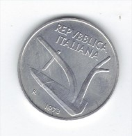 RedF - REPUBBLICA : 10 Lire SPIGHE Emissione Del 1973  ITALMA - 10 Lire