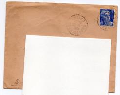 Cachet Manuel--79-Deux-Sèvres--SALLES Du 30-1-1953--sur Marianne De Gandon 15f Bleu - Marcofilie (Brieven)