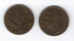 """10 Centesimi """"Impero"""" Del 1943 : L´ultima Del Regno . BRONZITAL - 1861-1946 : Regno"""