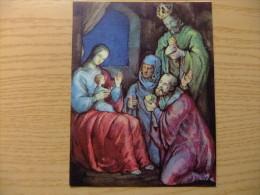 TARJETA POSTAL DE NAVIDAD - ADORACION DE LOS REYES MAGOS - Virgen Maria Y Las Madonnas