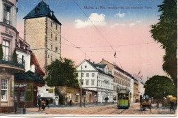 Germania Mainz A.rh.rheinstrabemit Eisernem Turm.(piccolo-colore-n.v.) - Allemagne
