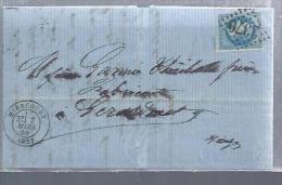 """FRANCE :Y&T (o) N° 37 Sur Lettre """"Oblitération7/3/69 Avec Un Timbre émis En Octobre 70"""" - 1870 Siège De Paris"""