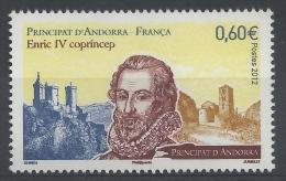 Andorra (French Adm.), Henri IV, King Of France And Navarre, 2012, MNH VF - Andorre Français