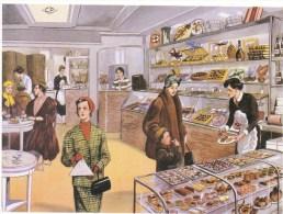 Le Salon De Thé  -  Carte Postale Editions Rossignol - Cafés