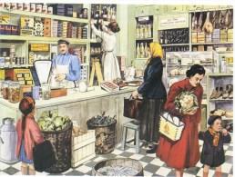Chez L'Epicier  -  Carte Postale Editions Rossignol - Magasins