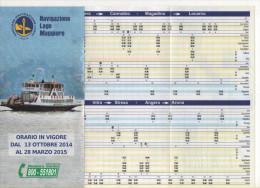 Alt697 Orario, Timetable Traghetto, Ferry Bateau Navigazione Lago Maggiore Intra Stresa Cannobio Magadino Locarno Angera - Europa
