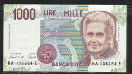 ITALIA REPUBBLICA 1990 BANCONOTA DA LIRE 1000 MONTESSORI  ITALIE ITALIEN ITALY - [ 2] 1946-… : Républic