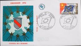 ENVELOPPE 1er JOUR 1976 - Conseil De L'Europe - Strasbourg Le 16.10.1976 - En Parfait état - - 1970-1979