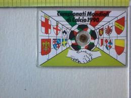 Medaglietta - In Blister -  Campionati Mondiali Di Calcio 1990.- 8 Giugno-luglio -1990. - Gettoni E Medaglie