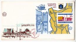 FDC Indonésie - Bloc - Djakarta 444 Th. - 1971 - Indonesia
