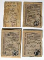 RATIONNEMENT - CARTES D´une Famille Rue Meslay 1942 Et 46 +tickets - PARIS 3ème - Documents Historiques