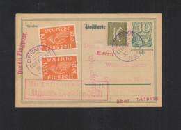 Dt. Reich Luftpost GSK Mit ZuF Bremen 1922 - Luchtpost