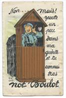 """Carte Humoristique - Militaire Dans Une Guérite  """"Non Mais Zieutez Not'boulot"""" - Dépliant 10 Dessins Signés J. P. GOD - Mechanical"""