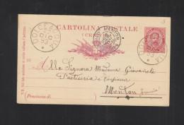Cartolina Dolceaqua 1893 Per La Francia - 1878-00 Humbert I.
