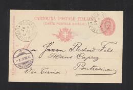 Cartolina Bagni Nuovi Di Bormio 1897 Per La Svizzera - 1878-00 Humbert I.